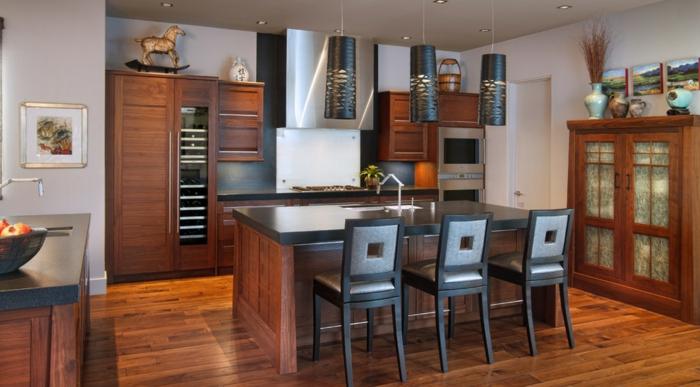 küchengestaltung idee einrichtungsbeispiele deko ideen küche farbgestaltung lux