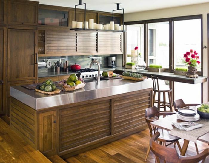 idee einrichtungsbeispiele deko ideen küche farbgestaltung naturfreundlich