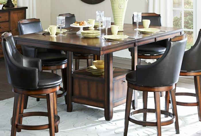 küchengestaltung idee einrichtungsbeispiele deko ideen küche farbgestaltung sitzen