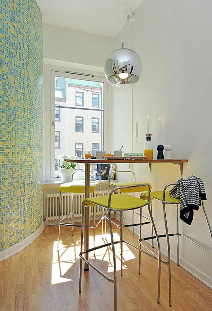 küchengestaltung idee einrichtungsbeispiele deko ideen kleine küche einrichten licht