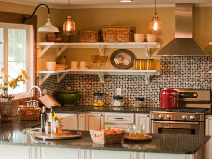 küchenspiegel küchenrückwand fliesen wandgestaltung mosaik