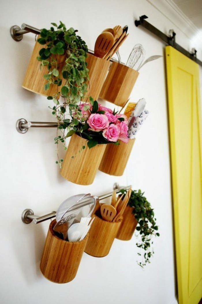 kleine küche einrichten optimale raumnutzung ikea stange ordnung