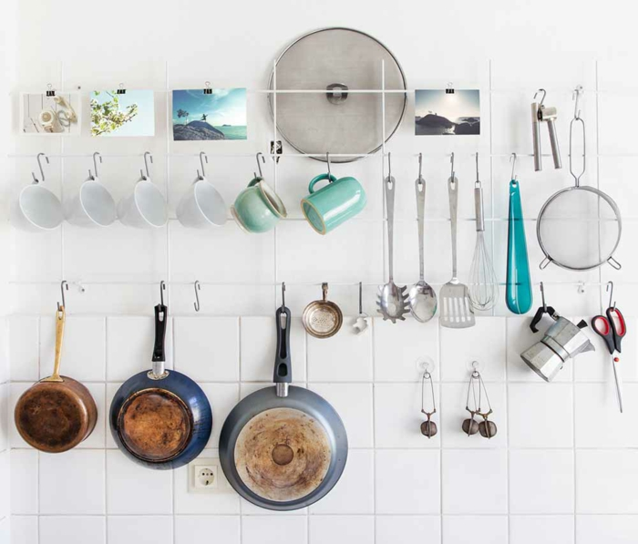 kleine küche einrichten optimale raumnutzung ikea teelicht schilder körbe ordnung