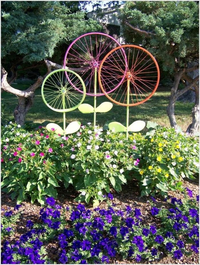 kreative gartenideen für kleine gärten fahrrad