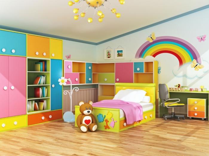 Möbel Kinderzimmer   39 Beispiele, Wie Sie Mit Farbe Einrichten | {Möbel  Kinderzimmer 27