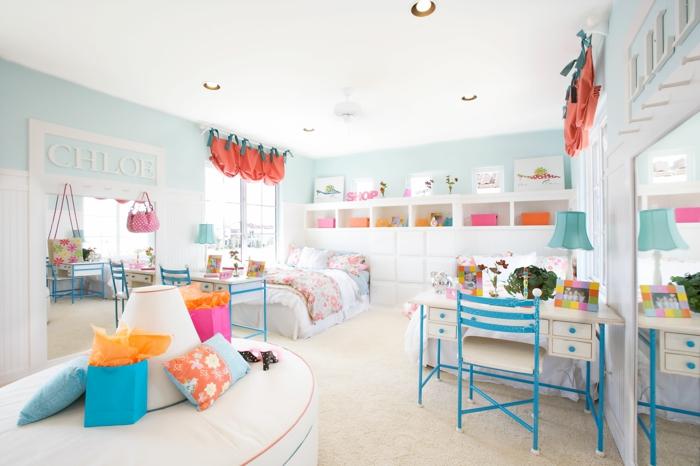 möbel kinderzimmer farbige möbel helle wände