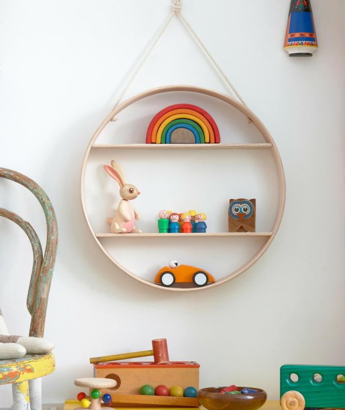 möbel kinderzimmer wandgestaltung lustig funktional wandregale