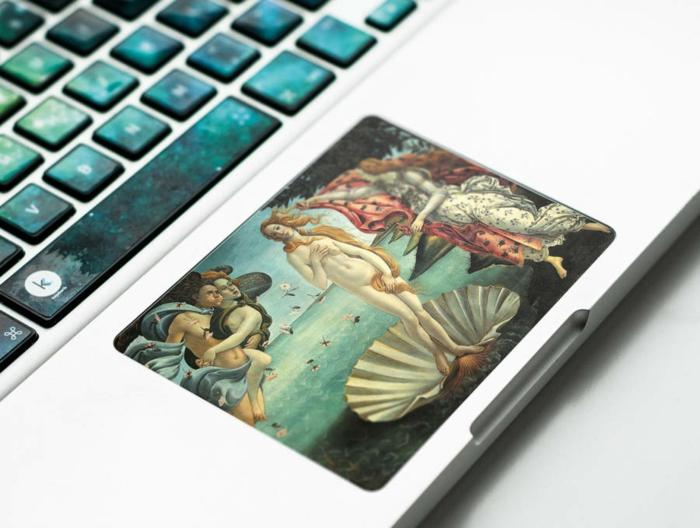 macbook sticker aufkleber tastatur sandro boticcelli