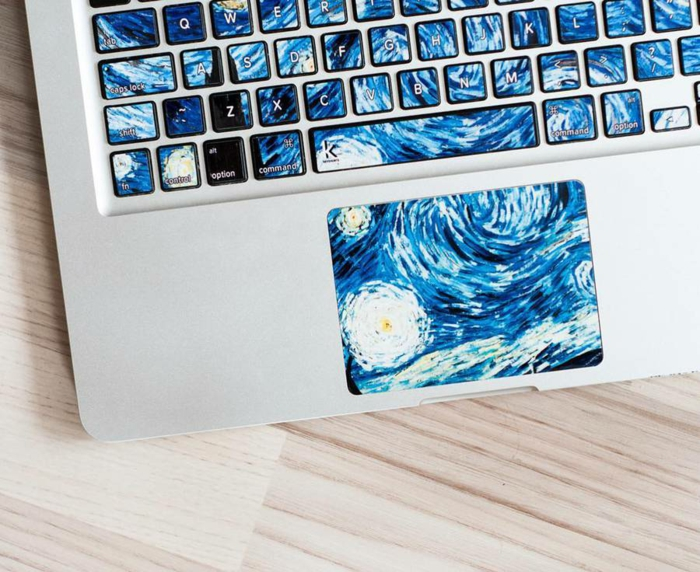 macbook sticker tastatur sticker aufkleber tastatur van gogh