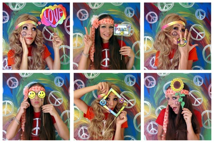 party ideen hippie party stirnband frieden zeichen
