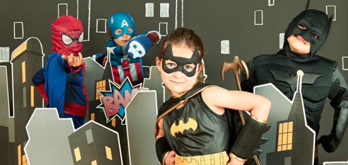 mottoparty ideen superhelden thema batman spiderman kindergeburtstag