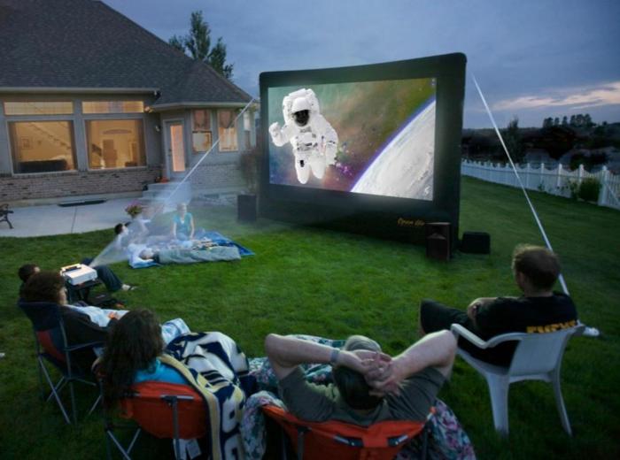 open air kino kreative gartenideen freiluft kino abend