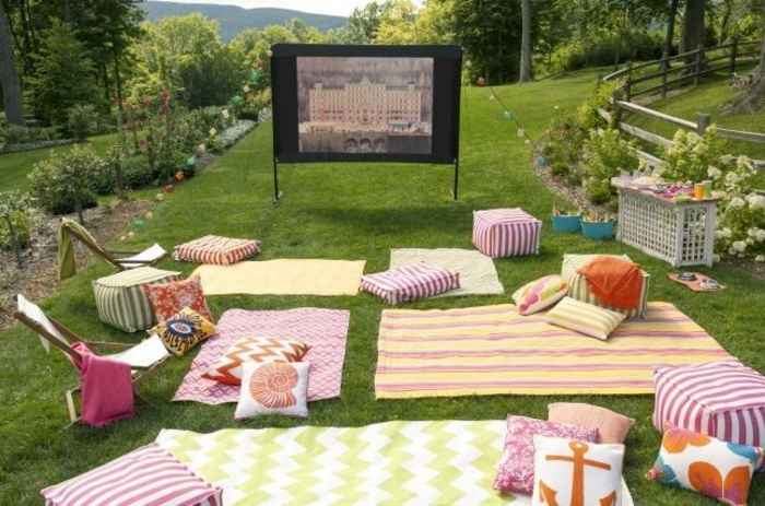 open air kino kreative gartenideen freiluft kino
