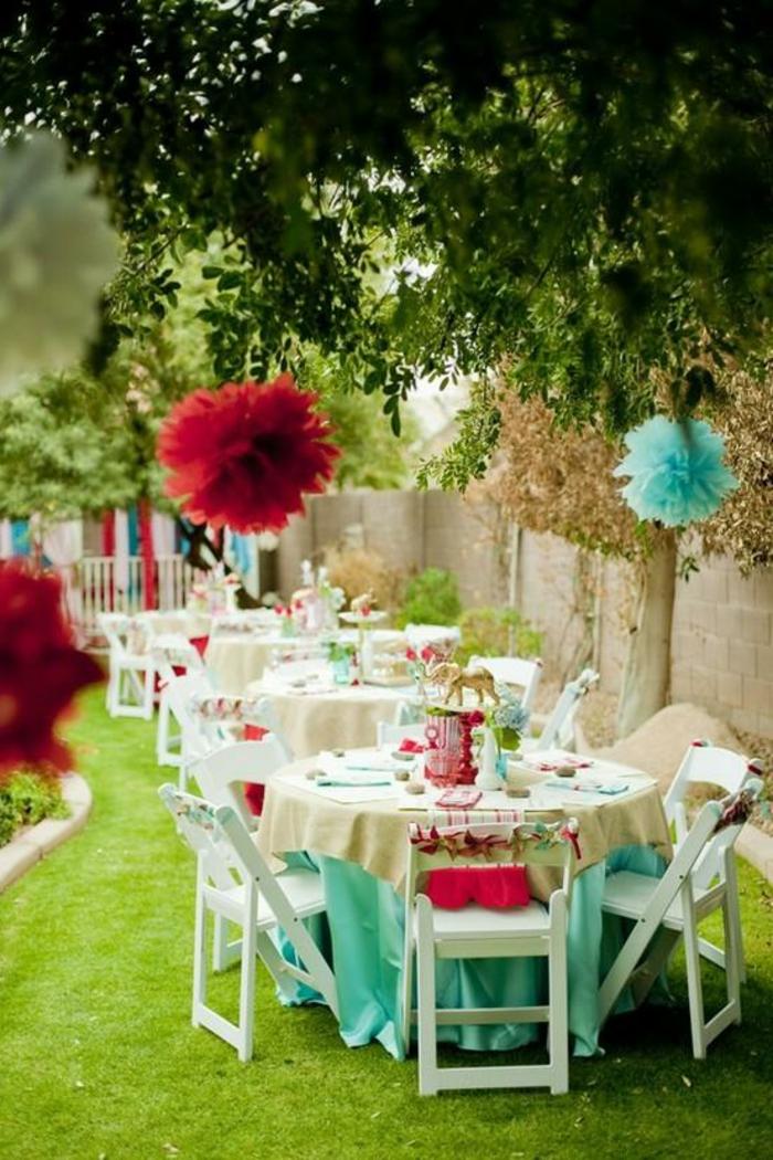party deko ideen deko aufhängen tischdeko ideen hellgrüne tischdecken