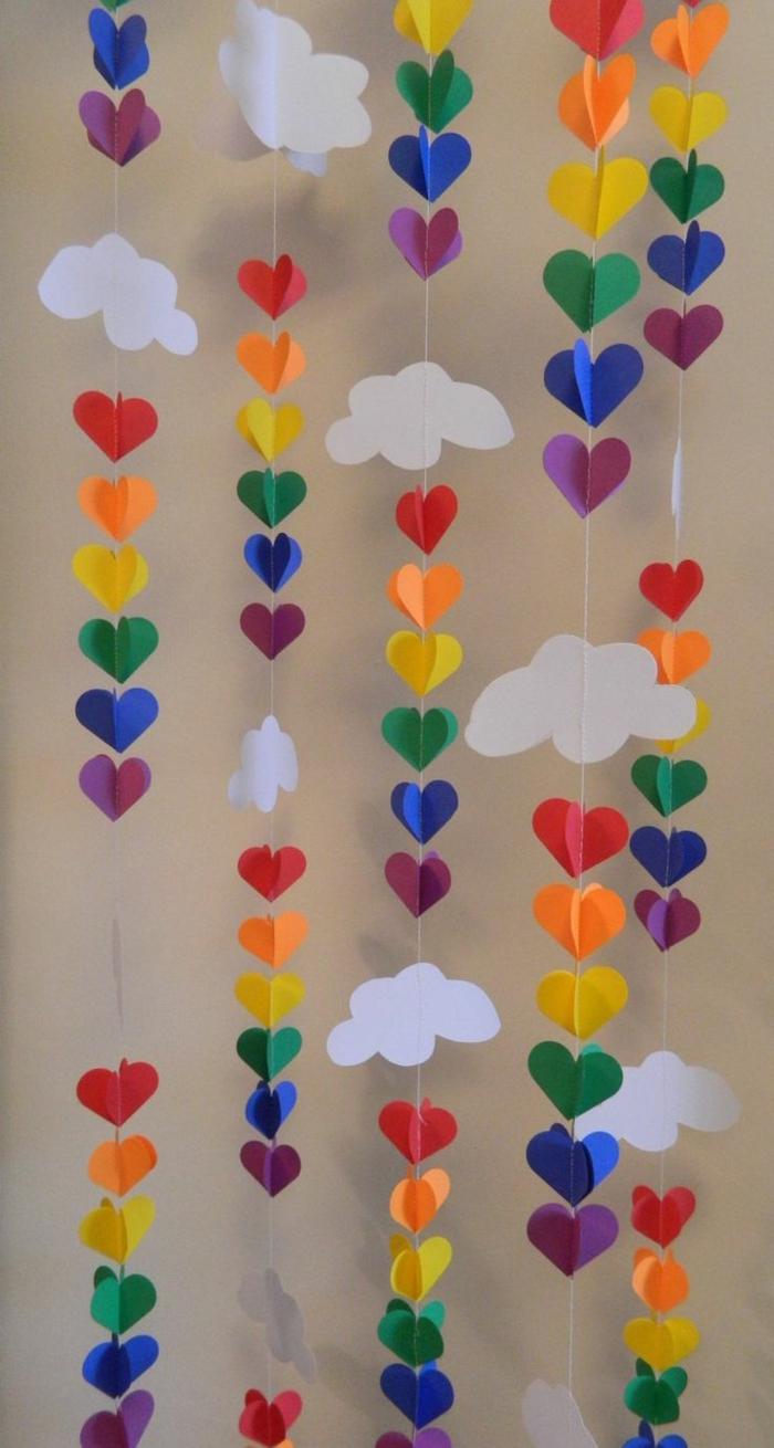 party deko ideen farbig diy girlanden aufhängen