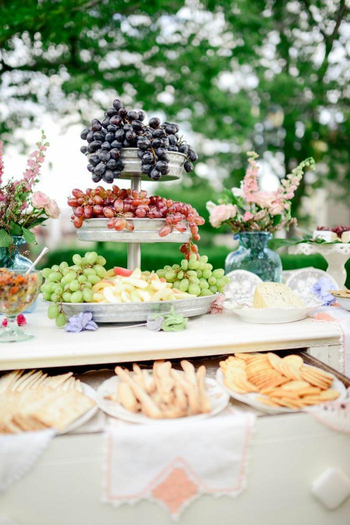 party deko ideen tischdeko ideen essen früchte