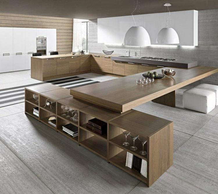 schöne Küchen Bilder Küchendesign Holz Kücheninsel