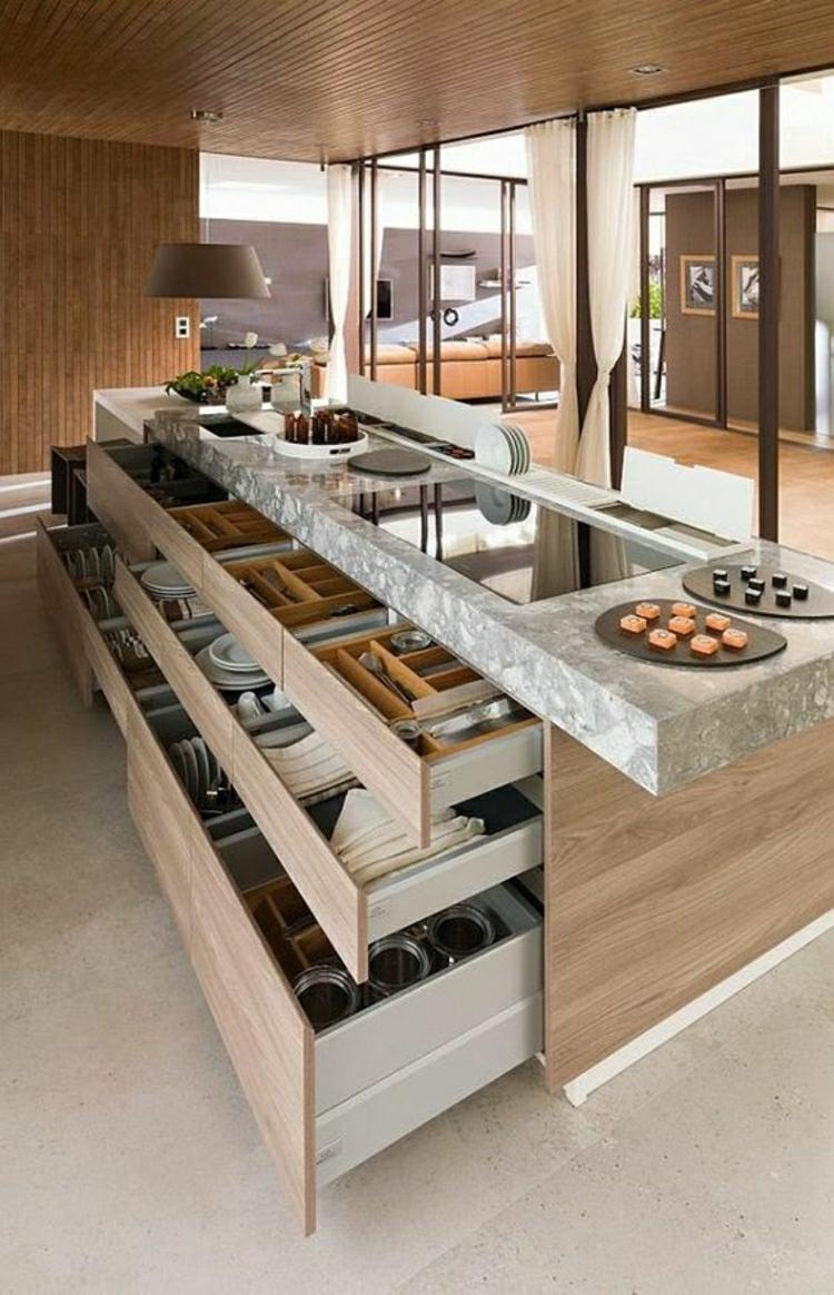 schöne Küchen Bilder Küchendesign Kücheninsel optimale Küchenarbeitsfläche