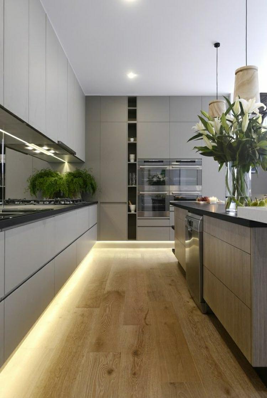 schöne Küchen Bilder Küchendesign moderne Küchengestaltung indirekte Beleuchtung