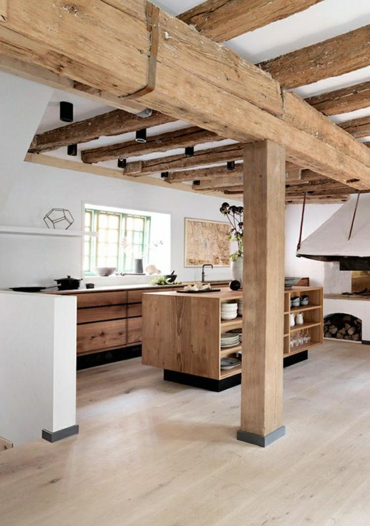 schöne Küchen Bilder Küchendesign rustikale Küche moderne Landhausküche