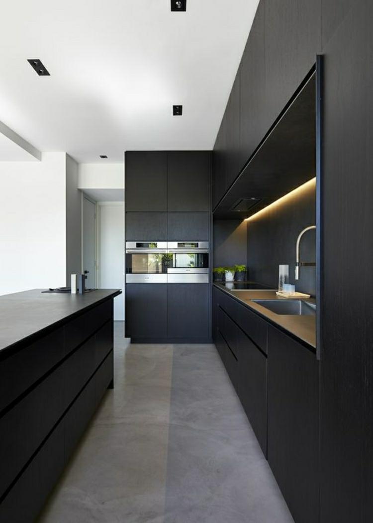 schöne Küchen Bilder Küchengestaltung Ideen Küchendesign schwarz