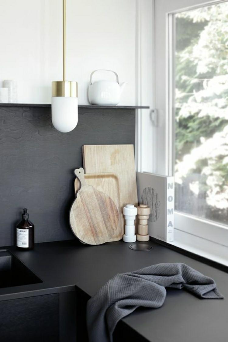 schöne Küchen Bilder Küchenideen Küchenarbeitsplatte schwarz