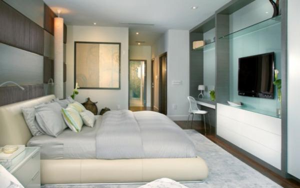 fernseher an der wand im schlafzimmer – downjigger, Schlafzimmer design