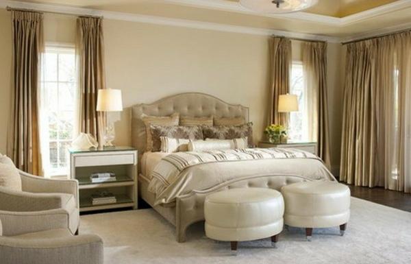 schlafzimmer einrichten polstermöbel runde hocker sessel