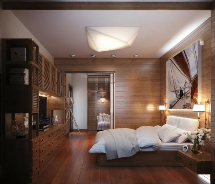 schlafzimmer einrichtung dekoideen wanddeko gemälde