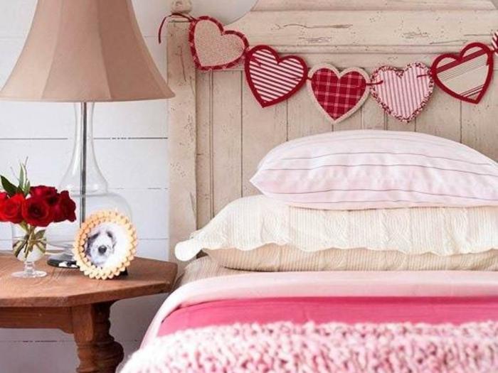 schlafzimmer einrichtung mädchenzimmer bettkopfteil dekoideen herzen