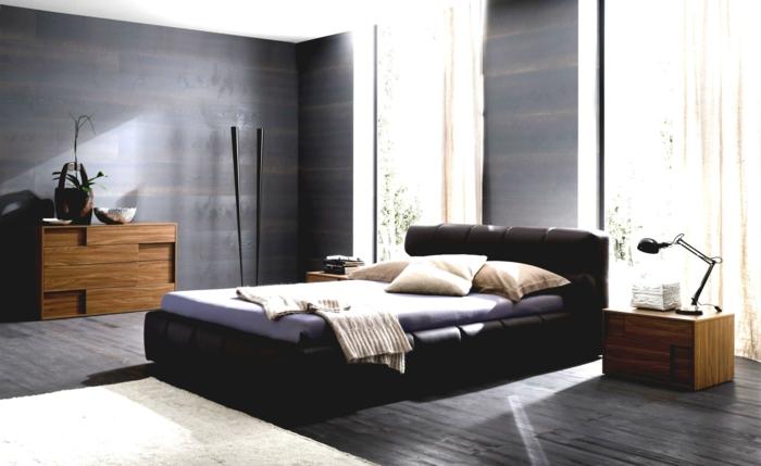 Dunkler Boden Weiße Sockelleisten : Schlafzimmer Schwarz  31 Beispiele, dass schwarze Schlafzimmer schick
