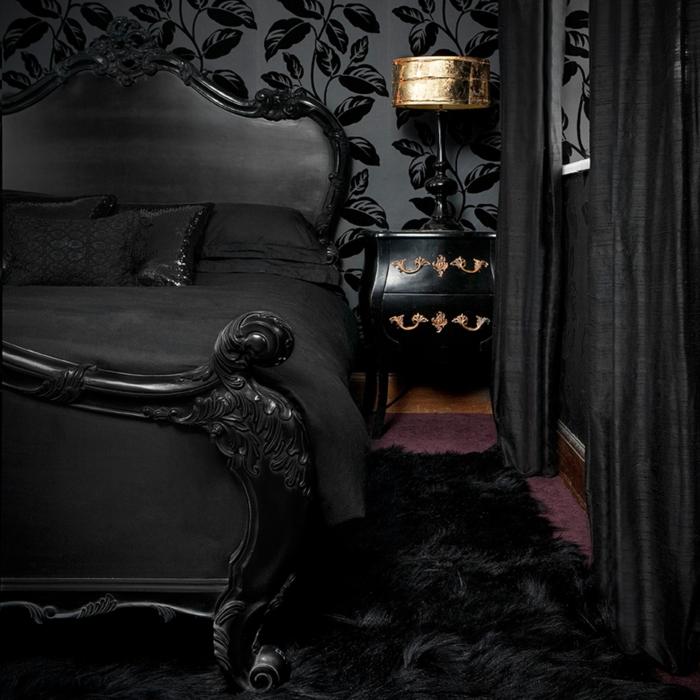Schlafzimmer In Schwarz U2013 31 Beispiele, Dass Schwarze Schlafzimmer Schick  Und Wohnlich Sind ...