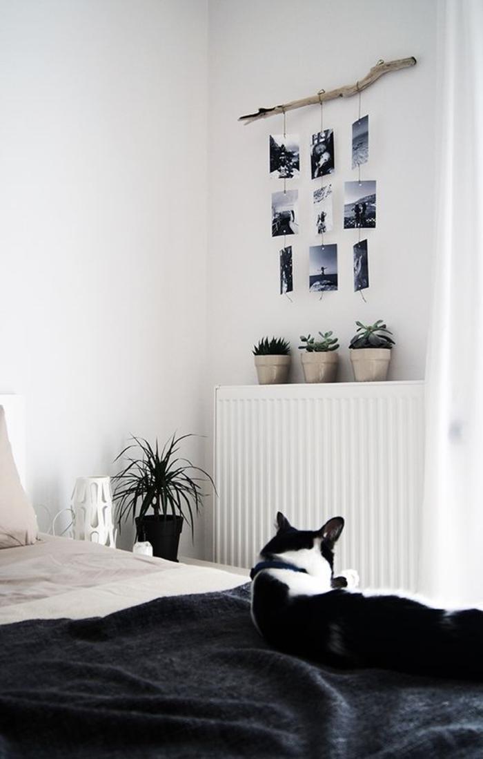 schlafzimmer schwarz weiß weiße wände schwarze akzente