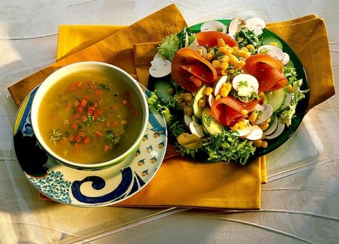 schnell und gesund abnehmen entscheidung zeichnungen früchte suppe
