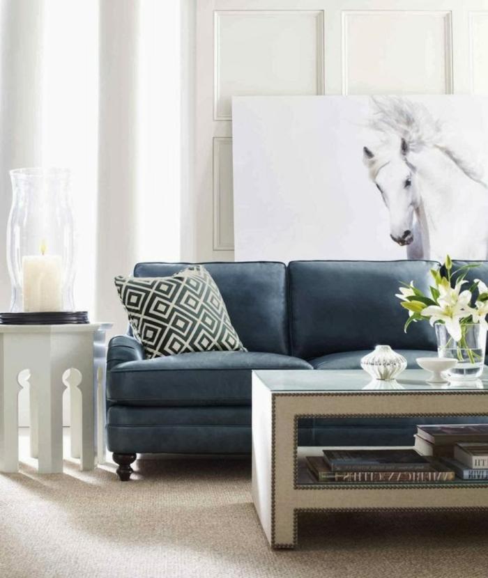 50 Einrichtungsideen Mit Sofa In Blau, Die