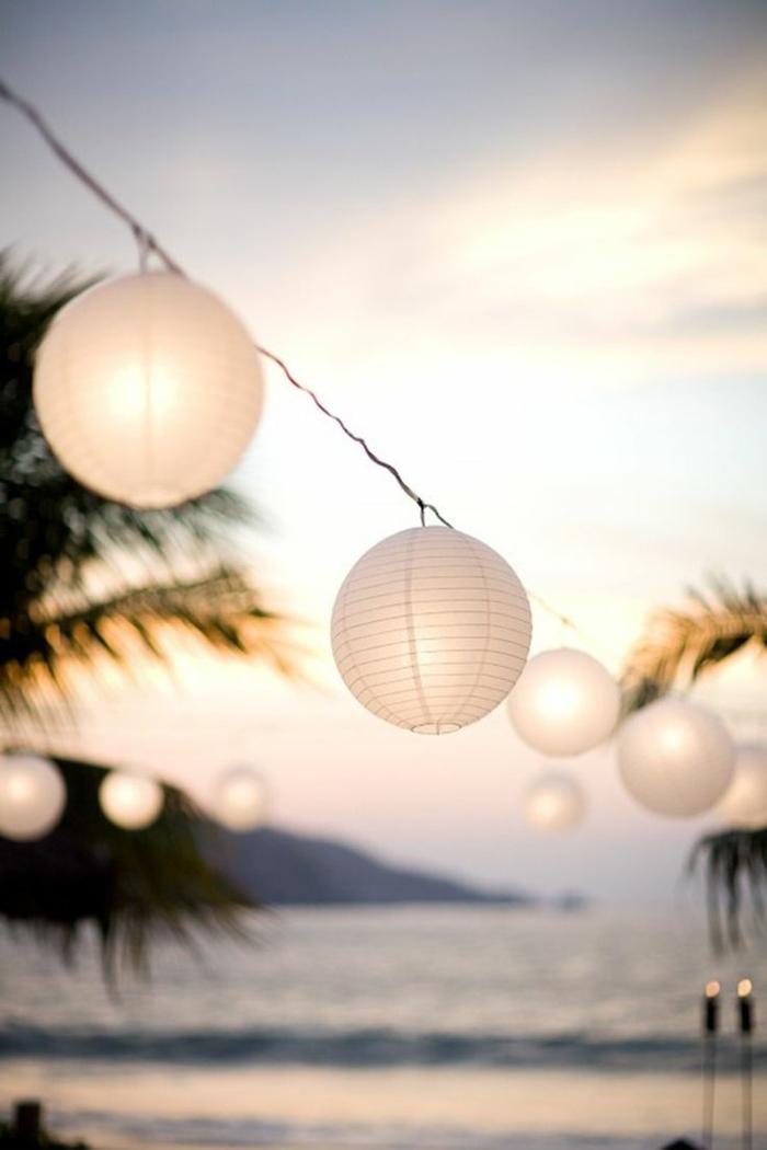 sommerparty deko garten lichterketten laternen