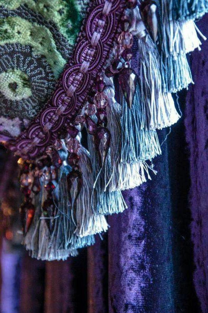 sommerparty deko gartenideen gardinen glasperlen anhänger quasten