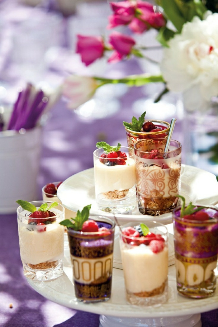 sommerparty deko gartenideen pudding eis zubereiten homemade teegläser orientalisch