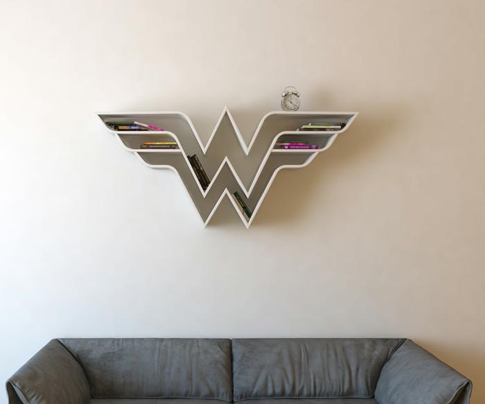 superhelden bücherregale holzregale wandregale wanddekoration wohnzimmer
