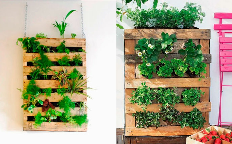 Vertical Garden Instructions - another DIY project made of pallets