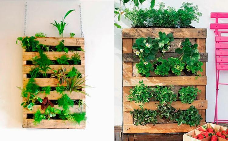 vertikalen Garten selber machen Anleitung vertikale Begrünung DIY Ideen