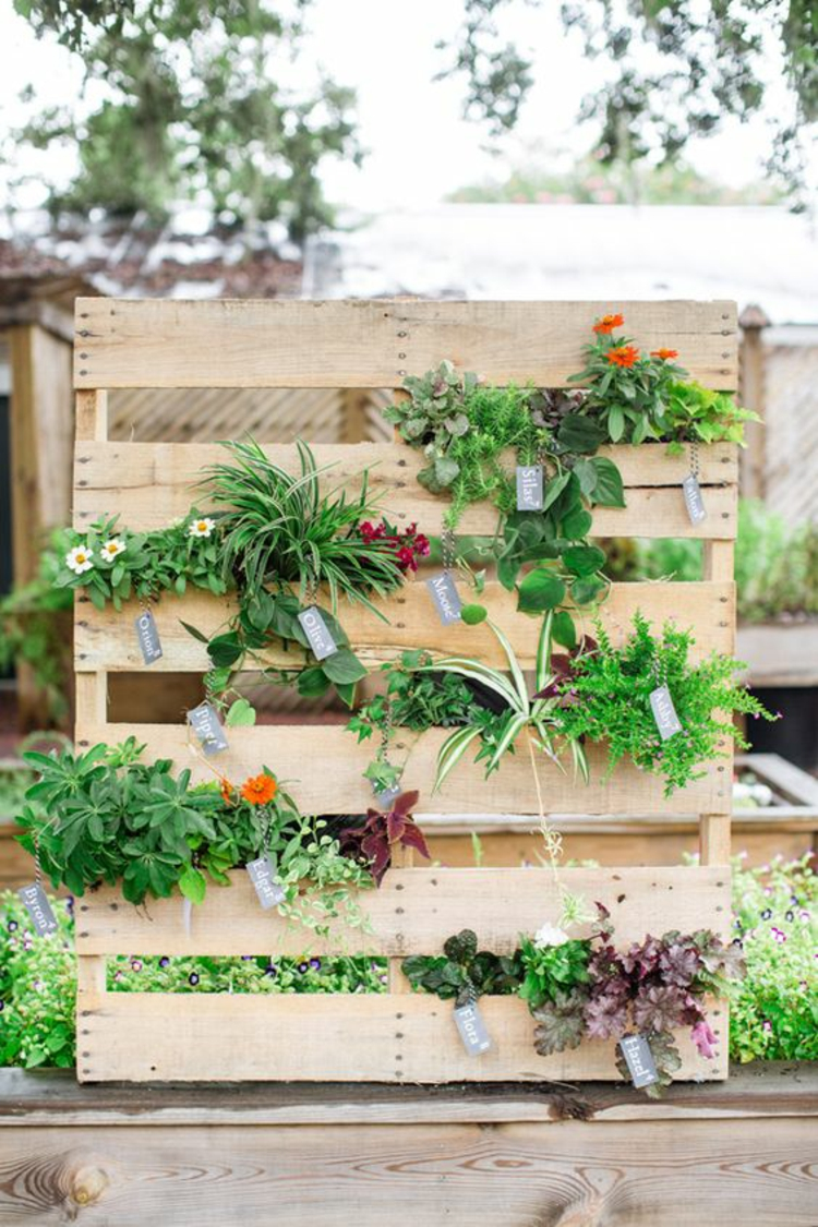 Vertikaler Garten Anleitung Noch Ein Diy Projekt Aus Paletten