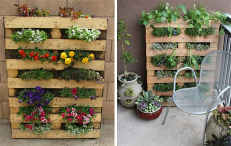 vertikaler Garten Anleitung vertikale Begrünung auf dem Balkon
