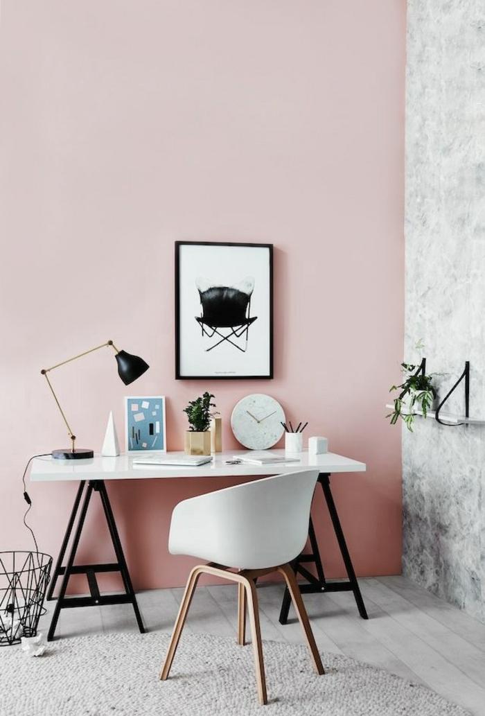 Wandfarbe rosa welche sind die neusten trends f r 2016 for Schreibtisch skandinavisches design