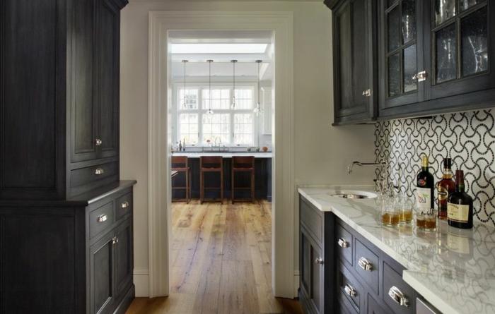 wohnideen küche kleine küche einrichten rückwand gestalten