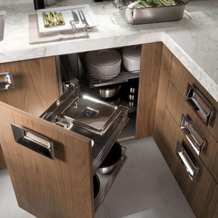 wohnideen küche moderne handgriffe stauraum küche