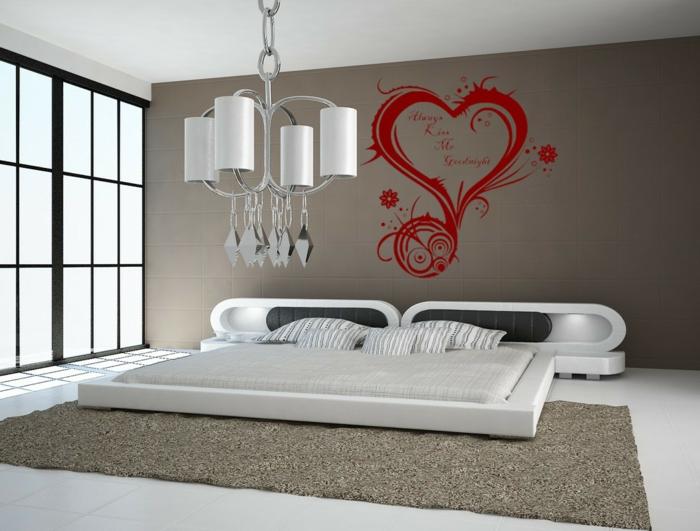 wohnideen schlafzimmer dekoideen wanddeko wandtattoo