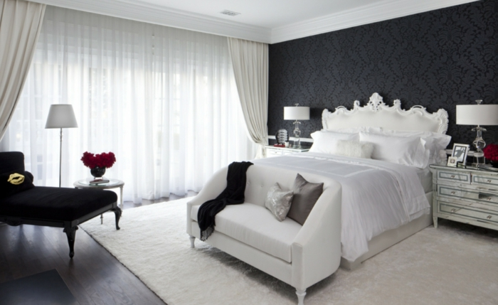 schlafzimmer teppich schwarz interieurs inspiration