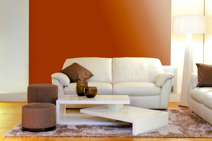 Beautiful Wohnzimmer Orange Weis Ideas
