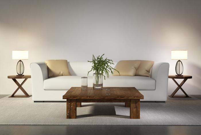 sofa weiß - 35 wohnzimmereinrichtungen mit einem weißen akzent, Wohnzimmer dekoo